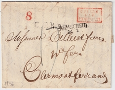 "1836, "" PRUSSE PAR FORBACH ""  , #8335 - Storia Postale"