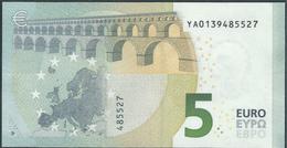 € 5 GREECE  Y001 H6  DRAGHI  UNC - 5 Euro