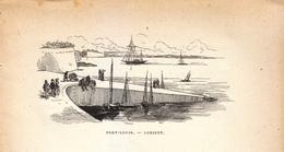 Vers 1890 - Gravure Sur Bois - Port-Louis (Morbihan) - Le Port - FRANCO DE PORT - Estampes & Gravures