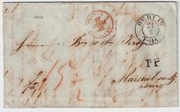 "1846, "" PRUSSE - GIVET - 5 "" Claire! , #8337 - Storia Postale"