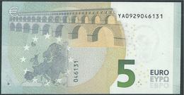 € 5 GREECE  Y001 B5  DRAGHI  UNC - 5 Euro