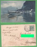 Battello PLINIO In Arrivo A Menaggio 1917 Bateaux - Chiatte, Barconi