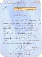 LAS.BARON E.AUGIER.VALLENAY (CHER) 9 Novembre 1867. - Autographes