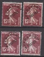 FRANCE  1922 / 1947 - Y.T. N° 53 X 4 - PREO NEUFS SANS GOMME ... K277 - 1893-1947
