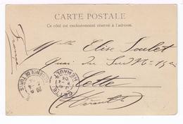 Sur Carte Postale Tunisie CAD Régence De Tunis 1904. CAD Destination Cette Hérault. (1904) - Tunisia (1888-1955)