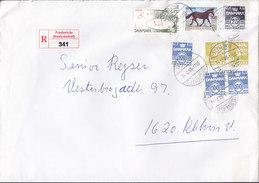 Denmark Registered Einschreiben Recommandé Label FREDERICIA (Vestcentret) 1999 Cover Brief 2x Europa CEPT Stamps - Dänemark