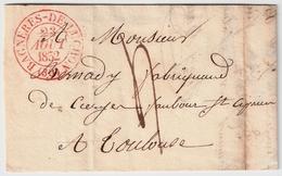 "1832, "" BAGNERES - DE - LUCHON (30) ""  , #8343 - Marcofilia (sobres)"