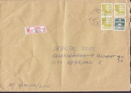 Denmark Registered Einschreiben Recommandé Label ODDER 1995 Cover Brief - Dänemark