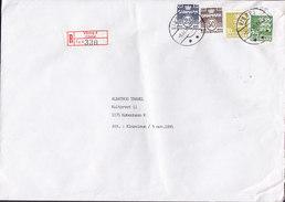 Denmark Registered Einschreiben Recommandé Label VIBORG (4.) 1995 Cover Brief 4-Colour Franking - Dänemark