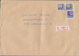 Denmark Registered Einschreiben Recommandé Label SKAGEN 1995 Cover Brief - Dänemark