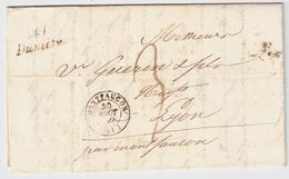 """1845, Cursive """" 41 Dunieres """" , #8344 - Marcofilia (sobres)"""