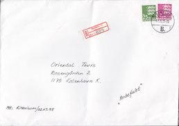 Denmark Registered Einschreiben Recommandé Label RANDERS (12.) RANDERS B. (*2) 1995 Cover Brief - Dänemark