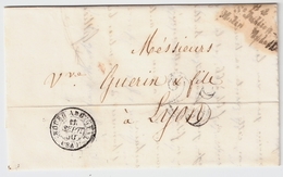"1850, Cursive "" 84 - St. Julien - Molin - Molette ""#8347 - Marcofilia (sobres)"