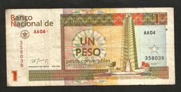 CUBA - BANCO NATIONAL De CUBA - 1 PESO CONVERTIBLE (1994) - Cuba