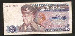 MYANMAR - BURMA - UNION Of BURMA BANK - 35 KYATS (1986) - Myanmar