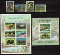 Tanzania 2005 Safari In Tanzania.animals.S/S And Stamps. MNH - Tanzania (1964-...)