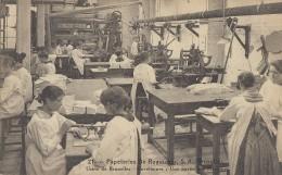 Belgique - Bruxelles - Papeteries De Ruysscher 39 Rue De La Grande Ile - Papier Enveloppes - Métiers Femmes - Old Professions
