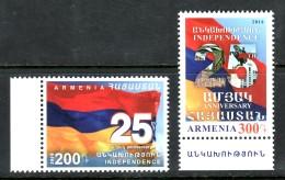 Armenia 2016, The 25th Anniv. Of Republics Of Armenia, Independence, Flag - MNH ** - Armenia