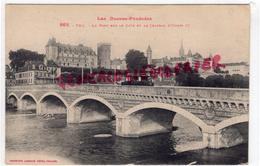64- PAU - LE PONT SUR LE GAVE ET LE CHATEAU D' HENRI IV - TRAMWAY - Pau