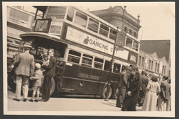 No 38 Bus At The Railway Tavern, Dalston, London, C.1940s - Photograph - Other
