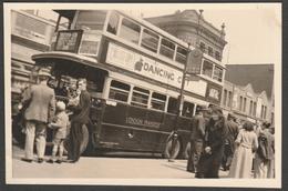 No 38 Bus At The Railway Tavern, Dalston, London, C.1940s - Photograph - Photographs