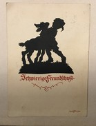 AK  SILHOUETTE   1933. - Scherenschnitt - Silhouette