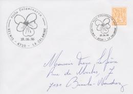 Enveloppe (1986-06-28, Kelmis 4720 La Calamine) LH - Violette Jaune - PL - Poststempels/ Marcofilie