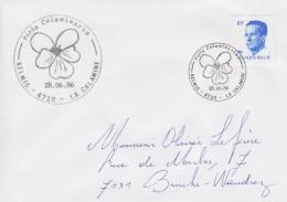 Enveloppe (1986-06-28, Kelmis 4720 La Calamine) RB - Violette Jaune - OL - Poststempels/ Marcofilie