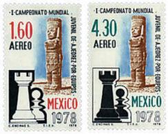 Ref. 30650 * NEW *  - MEXICO . 1978. 1st WORLD JUNIORES TEAM CHESS CHAMPIONSHIP. 1 CAMPEONATO MUNDIAL JUVENIL DE AJEDREZ - Mexico