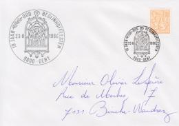 Enveloppe (1986-08-23, 9000 Gent) LH - Sainte-Elisabeth - OL - Poststempels/ Marcofilie