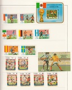 CUBA 1985 + 1986  FOOTBALL SOCCER WORLD CUP MEXICO 13 STAMPS MNH + 2 X MINISHEET  BLOCK MNH SPORT - Cuba