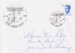 Enveloppe (1986-08-30, 8390 Knokke-Heist) RB - Enfant Sur Une Planche à Roulettes - PL - Poststempels/ Marcofilie