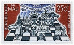 Ref. 30600 * NEW *  - MALI . 1974. 21st CHESS OLYMPIAD IN NICE. 21 OLIMPIADA DE AJEDREZ EN NIZA - Mali (1959-...)