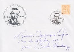 Enveloppe (1987-04-18, 8160 Diksmuide) LH - Baron W. Coppens De Houthulst - DL - Poststempels/ Marcofilie