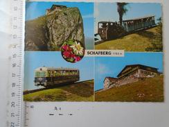 D150985 Train Railway -Schafberg -A 5360 -St. Wolfgang - Salzkammergut -Schafberg - Zahnradbahn - Trains