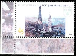 BRD - Michel 2376 ECKE LIU - ** Postfrisch (A) - 45C  800 Jahre Landshut - [7] West-Duitsland
