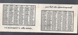 Localisation Inconnue :  Calendrier 1951 LA BARAQUE (PPP 5309) - Calendriers