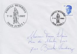 Enveloppe (1987-11-07, 6040 Jumet 1) RB - Sainte Marie-Madeleine - PL - Poststempels/ Marcofilie