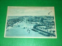 Cartolina Rimini - Panorama Della Spiaggia 1934 - Rimini
