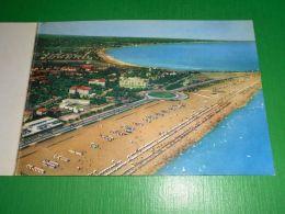 Cartolina Doppia Rimini - Visione Della Spiaggia 1955 - Rimini