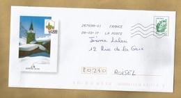 Bonneval-sur-Arc (73) église Clocher Les Plus Beaux Villages De France 2 Scans 28/03/2017 Lettre Verte 20g Entier Postal - 1961-....