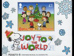 Gibraltar 2003 Miniature Sheet - 'Peanuts/Snoopy' Christmas - Gibraltar