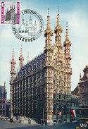 D19374 CARTE MAXIMUM CARD 1968 BELGIUM - CITY HALL LEUVEN CP ORIGINAL - Architecture
