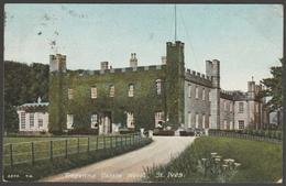 Tregenna Castle Hotel, St Ives, Cornwall, 1907 - Hartmann Postcard - St.Ives