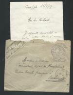 "Rare Cachet Poste Navale "" Service Des Travaux, Marine Nationale Constantinople"" En 1919  , Ax104 - Postmark Collection (Covers)"