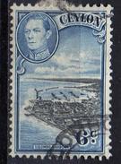 PIA - CEYLON - 1937-49 ; Porto Di Colombo  Con L' Effigie Del Re Giorgio VI - (Yv 254) - Ceylon (...-1947)