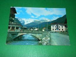 Cartolina Champoluc - Ponte Sull' Evançon E M. Rosa 1979 - Italy