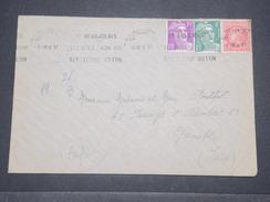 FRANCE - Type Gandon Et Mazelin Perforés CL Sur Enveloppe De Villefranche En 1949 Pour Grenoble - L 8811 - Perforés