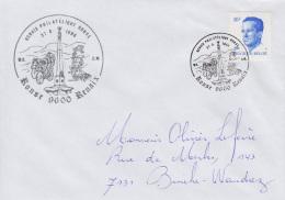 Enveloppe (1988-08-27, Ronse 9600 Renaix) - Obélisque Et Bommelkie - OL - Poststempels/ Marcofilie