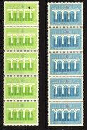 Europa Cept 1984 Netherlands Coil Stamps 2v  Strip Of 5 (1 Value With Number On Backside)  ** Mnh (36194) - Europa-CEPT